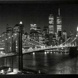 Artcom - New York, New York, Brooklyn Bridge by Henri Silberman - New York, New York, Brooklyn Bridge by Henri Silberman is a Framed Art Print set with a SOHO Black wood frame.