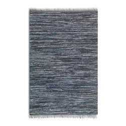 Uttermost - Uttermost Stockton Black Transitional Hand Woven Rug X-8-85017 - Hand woven rescued black and blue denim. This rug is not recommended for high traffic areas.