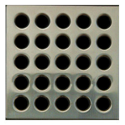 Square Shower Drain Grates Antique Pewter PVD, Brushed Nickel - Ebbe Square Shower Drain - Brushed Nickel