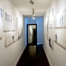 Hallway Photo Walls - Contemporary - entrance/foyer - Jessica Kelly Design