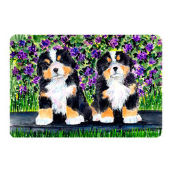Caroline's Treasures - Bernese Mountain Dog Kitchen or Bath Mat 24 x 36 - Kitchen or Bath Comfort Floor Mat This mat is 24 inch by 36 inch. Comfort Mat / Carpet / Rug that is Made and Printed in the USA. A foam cushion is attached to the bottom of the mat for comfort when standing. The mat has been permanently dyed for moderate traffic. Durable and fade resistant. The back of the mat is rubber backed to keep the mat from slipping on a smooth floor. Use pressure and water from garden hose or power washer to clean the mat. Vacuuming only with the hard wood floor setting, as to not pull up the knap of the felt. Avoid soap or cleaner that produces suds when cleaning. It will be difficult to get the suds out of the mat.