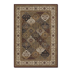 """Couristan - Everest 2'7"""" x 7'10"""" Rectangle Traditional - Everest Mosaic Panel 6380-5987-Multi 2.7x7.10"""