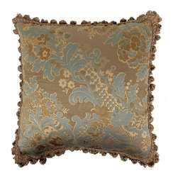 Austin Horn Classics - Austin Horn Classics Mondavi Luxury 20-inch Decorative Pillow - Update your home decor with a beautiful and elegant Austin Horn Classics luxury pillow. This decorative pillow features a stunning,soft feel 20-inch reversible design with a mixture of rust gold,brown and multi colors and an onion-fringe edge design.