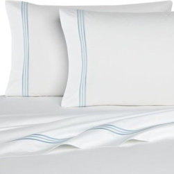Bellino - Bellino Fine Linens Tivoli Fitted Sheet in White - This Tivoli fitted sheet brings classically elegant style to your bed. Designed as part of Bellino Fine Linens Hotel Collection, this sheet is luxurious enough for high-end hotels and works perfectly in your home.