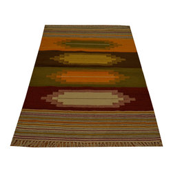100% Wool Colorful Durie Kilim Flat Weave 3'x5' Hand Woven Oriental Rug SH15796 - Soumaks & Kilims are prominent Flat Woven Rugs.  Flat Woven Rugs are made by weaving wool onto a foundation of cotton warps on the loom.  The unique trait about these thin rugs is that they're reversible.  Pillows and Blankets can be made from Soumas & Kilims.