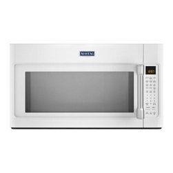 Maytag - MMV6190DH 1.9 cu. ft. Over-The-Range Microwave with 1000 Cooking Wattage  EvenAi - The MMV6190D Over-The-Range Microwave from Maytag will bring elegance to your kitchen and excellence to your cooking It has stainless steel handles 19 cu ft capacity EvenAir convection mode halogen lighting quick touch settings 14 turn table and 1600...