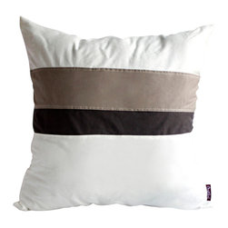 Blancho Bedding - [White Lady] Knitted Fabric Patch Work Pillow Floor Cushion 19.7 by 19.7 inches - Aesthetics and Functionality Combined. Hug and wrap your arms around this stylish decorative pillow measuring 19.7 by 19.7 inches, offering a sense of warmth and comfort to home buddies and outdoors people alike. Find a friend in its team of skilled and creative designers as they seek to use materials only of the highest quality. This art pillow by Onitiva features contemporary design, modern elegance and fine construction. The pillow is made to have invisible zippers, knitted fabric shells and fill-down alternative. The rich look and feel, extraordinary textures and vivid colors of this comfy pillow transforms an ordinary, dull room into an exciting and luxurious place for rest and recreation. Suitable for your living room, bedroom, office and patio. It will surely add a touch of life, variety and magic to any rooms in your home. The pillow has a hidden side zipper to remove the center fill for easy washing of the cover if needed.
