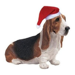 Sandicast - Basset Hound Ornament - Basset Hound Ornament. Made of Marble Dust and Poly Resin. Exceptionally sculpted. Incredible realism. Perfect for pet lovers. Hand-cast and hand-painted animal replica. 4.25 in. L x 1.5 in. W x 2.25 in. H (0.25 lbs)