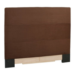 Howard Elliott - Microsuede  King Headboard Slipcover - Refresh the look of your slipcovered headboard simply by updating the cover! Change with the seasons, or on a whim. This piece features a chocolate faux suede cover.