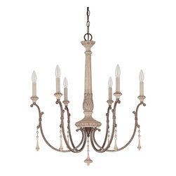 Capital Lighting - Capital Lighting 4096FO French Oak Chateau 6 Light Chandelier - Number of Bulbs: 6