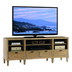 Lexington - Lexington Monterey Sands Spanish Bay Entertainment Console - Although we love our big television screens, the media components seem to get smaller as technology advances. The four drawers and three adjustable shelves offer storage and flexibility without requiring excessive square footage.