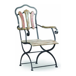 Hooker Furniture - Sanctuary Bistro Chair - White glove, in-home delivery!  For this item, additional shipping fee will apply.  Pursue serenity at home with the Sanctuary collection.  Create your own personal sanctuary, a special place where you can experience comfort within.  Yellow, White, Red, & Blue finish.  The Sanctuary Bistro Chair is not intended for outdoor use.
