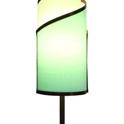 itsara koncepts - KLADIS: Interchangeable shades in seconds, Seafoam, Solid Colors - Decorative table lamp with magnetic interchangeable shades. Change shades in seconds with any from our growing collection. Now you can finally change your decor for different occasions whenever you want.