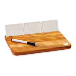 "Berard - Berard Olive Wood Acero Collection Cheese Board Set - 10"" x 7"" x .6"" - Includes:"