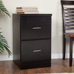 Valona Modern Custom 2-Drawer Filing Cabinet - Black - When it comes to your business needs one size does not fit all. So we've made sure to customize the Valona Modern Custom Two Drawer Filing Cabinet - Black to fit your style and space specifications. With its sleek black finish and elegant design this contemporary filing cabinet is made for the modern office. You can easily store letter- and legal-size files in the two large filing drawers. The vertical shape lets you save space while the reliable engineering will keep all your treasured texts and favorite files safe and sound. The subtle silver handles add a splash of style. Customized chic and completely functional - this is one hard-to-resist vertical filing cabinet.