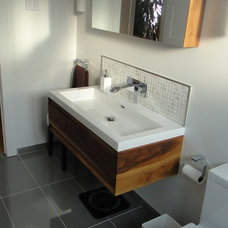 Modern Bathroom Vanities And Sink Consoles vanity and mirror.JPG