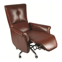 Fine Mod Imports - Relaxer Brown Office Chair Recliner - Features: