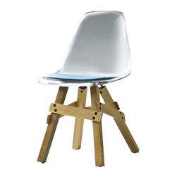 Kubikoff - Icon Chair, Dark Grey, Lime Seat Pad, Natural-Ashwood - Icon Chair
