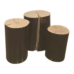 Gervasoni Lacquered Wood Logs - Set of 3 - Dimensions 8.5ʺW × 9.5ʺD × 16.0ʺH