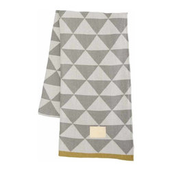 Ferm Living Remix Blanket, Gray - Technically for a baby, this modern geometric blanket is the perfect accessory for any grown-up space (don't worry, I won't tell). The soft gray pattern is a nice meld of graphic punch and subtlety.