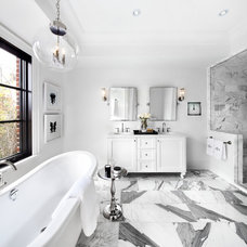 Transitional Bathroom by The Design Co