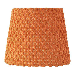 Bubble Knit Lamp Shade, Papaya - This is such a pretty lamp shade with such a cool texture.
