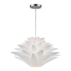 Sterling Industries - Sterling Industries 143-001 Inshes 1 Light Pendants in White - Inshes-1Light Mini Pendant Lamp