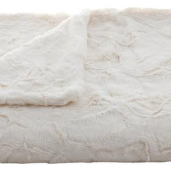 Lux Minky Ivory Throw
