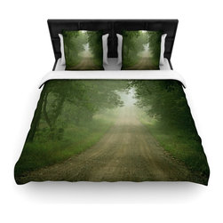 """Kess InHouse - Angie Turner """"Foggy Road"""" Forest Fleece Duvet Cover (Twin, 68"""" x 88"""") - You can curate your bedroom and turn your down comforter, UP! You're about to dream and WAKE in color with this uber stylish focal point of your bedroom with this duvet cover! Crafted at the click of your mouse, this duvet cover is not only personal and inspiring but super soft. Created out of microfiber material that is delectable, our duvets are ultra comfortable and beyond soft. Get up on the right side of the bed, or the left, this duvet cover will look good from every angle."""