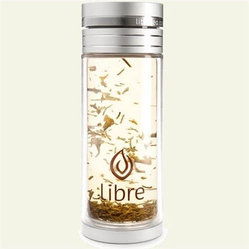 Libre Loose Leaf Tea Double Walled Glass/Polycarbonate Bottle