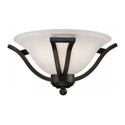 One Light Matte Black Matte Opal Glass Wall Light - A single light wall sconce in matte black finish and matte opal shade adds a majestic flavour to your home.