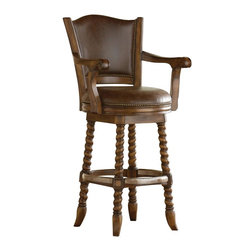 Ambella Home - New Ambella Home Bar Stool Leather Swivel - Product Details