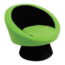 "Lumisource - Saucer Chair, Green - 26.5"" L x 32.5"" W x 28"" H"