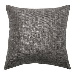 "Best Home Fashion - Metallic Weave Pillow Cover- 18"" x 18"", Black - Add subtle shimmer to a sofa, bed or chair with this metallic weave pillow cover."