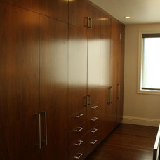 Contemporary Closet Organizers by Stephen Day Design