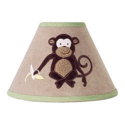 Sweet Jojo Designs - Monkey Lamp Shade - The Monkey lamp shade will help complete the look of your Sweet Jojo Designs room. This adorable lamp shade will most standard lamp bases (base not included).