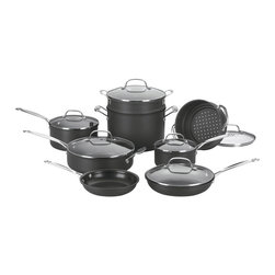 Cuisinart - Cuisinart Chef's Classic Non-Stick Hard Anodized 14-Piece Cookware Set - Hard anodized exterior is dense, nonporous and highly wear-resistant for extra durability