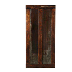 Big Sky Barn Doors - Bear Paw Door, Finished, 50x81 - The Bear Paw door is a truly unique barn door comprised of reclaimed Montana barnwood and rustic tin. Each Big Sky Barn Door is shipped completely assembled and ready to hang.     Due to the nature of antiqued reclaimed lumber, each door is unique in character and appearance.  Colors might vary slightly as well as wood grains, knots, nail holes, etc... Every door is handcrafted and inspected for quality assurance.    Hardware is not included.