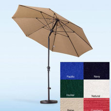 Outdoor Umbrellas Fiberglass Olefin Crank and Tilt 9-Foot Umbrella