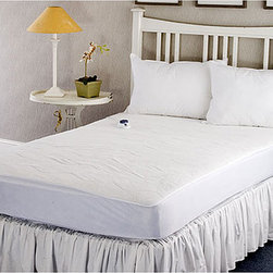 None - Warm and Cozy Plush Heated Electric Full-size Mattress Pad - Stay toasty warm on those cold winter nights with this heated electric full-size mattress pad. This cozy mattress pad features consistent heat, a preheat setting, and an automatic 10-hour cutoff, which allows you to sleep in safety and comfort.