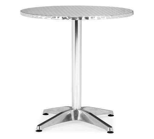 Zuo Modern - Christabel Round Table - Sitting on a busy street corner, drinking a cup of coffee, updating the daily blog, while having a meal, the Christabel series is the perfect table to fit any caf? setting. This all aluminum table is MDF wrapped. The base sits on adjustable feet to contour to level. This series comes with everything as well as an adjustable a fix, ranging from table height to bar height. The Christabel is perfect for any setting.