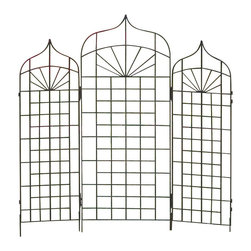 H Potter - Ogee Trellis - Large - When it comes to giving a screen test, this curvy ingenue is a standout by itself, but also works well as part of a supporting cast. Each trellis is available in two sizes, all linking together to form a hinged backdrop for the budding production.