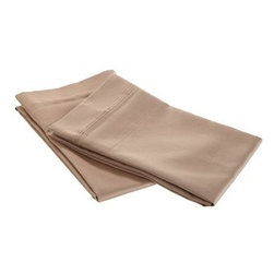 650 Thread Count Egyptian Cotton Standard Taupe Solid Pillowcase Set - 650 Thread Count Egyptian Cotton Standard Taupe OVERSIZED Solid Pillowcase Set