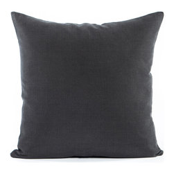 "Blooming Home Decor - Solid Charcoal Gray Accent / Throw Pillow Cover - (Available in 16""x16"", 18""x18"", 20""x20"", 24""x24"", 26""x26"", 12""x20"", 20""x54"")"