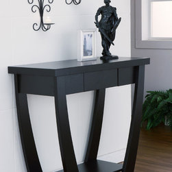 Furniture of America - Furniture of America Modern Treasure Black Finish Console-Sofa Table - Add a unique flair to your decor with this black console-sofa table. This contemporary table is made of durable MDF and veneer,so it will last for many years. Its sleek look and curved legs will make this piece stand out in any space.