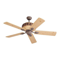 Monte Carlo Fans - Monte Carlo Fans-5GL52WI-Great Lodge Ceiling Fan - Create a Rustic Retreat in any Room Breathe deep. Imagine the fragrance of fresh pine. The look of rough hewn pine logs and pine cone accents create a quiet retreat.