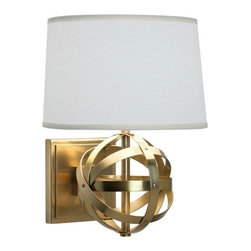 Robert Abbey Lucy Wall Sconce - Don't make your sconces an afterthought; pick the right style and the fixture will shine (in more ways than one). Take this Robert Abbey-designed light, for instance. I guarantee that unique base will make a major impact in a room.