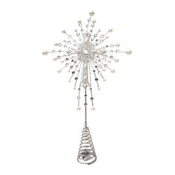 Silk Plants Direct - Silk Plants Direct Glittered Rhinestone and Pearl Cross Tree Topper (Pack of 4) - Pack of 4. Silk Plants Direct specializes in manufacturing, design and supply of the most life-like, premium quality artificial plants, trees, flowers, arrangements, topiaries and containers for home, office and commercial use. Our Glittered Rhinestone and Pearl Cross Tree Topper includes the following: