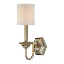 Capital Lighting - Capital Lighting 1986-484 1 Light Wall Sconce from the Fifth Avenue Collection - Capital Lighting 1986-484 Fifth Avenue Collection 1 Light Wall SconceElegant and stylish this single light wall sconce will transform any room into a vibrant pleasing atmosphere. The Box-Pleated Fabric Stay Straight Shade provides clean and simple look for the perfect finishing touch.Features: