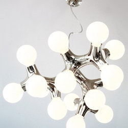 Contemporary White DNA XL Chandelier Lamp 15 Lights - SKU	LX501661531AB